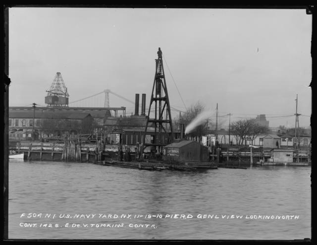 Pier D, General View, Looking North, Contract 1426, E. Dev. Tompkins, Contractor