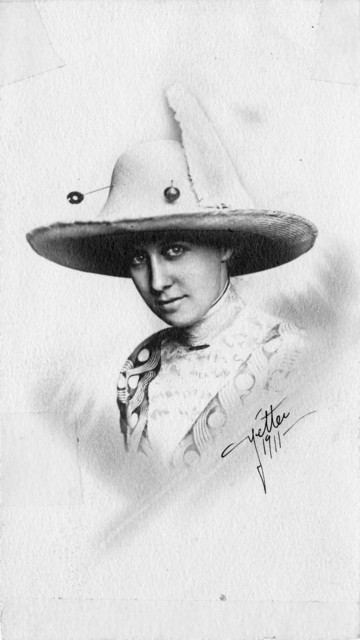 Portrait of Bess Wallace in a Flamboyant Hat