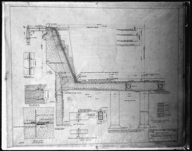 Dry Dock No. 4, Cross Section Through Slide Showing Details of Expansion Joint