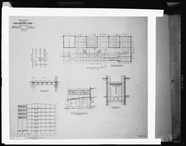 Development Drawing, Plate VII - Building Construction Drawing