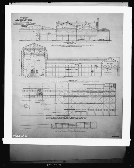 Development of the New York Navy Yard, as Submitted by Naval Constructor, U.S. Navy, Civil Engineer, U.S. Navy, Scale 100 Feet Equals 1 Inch