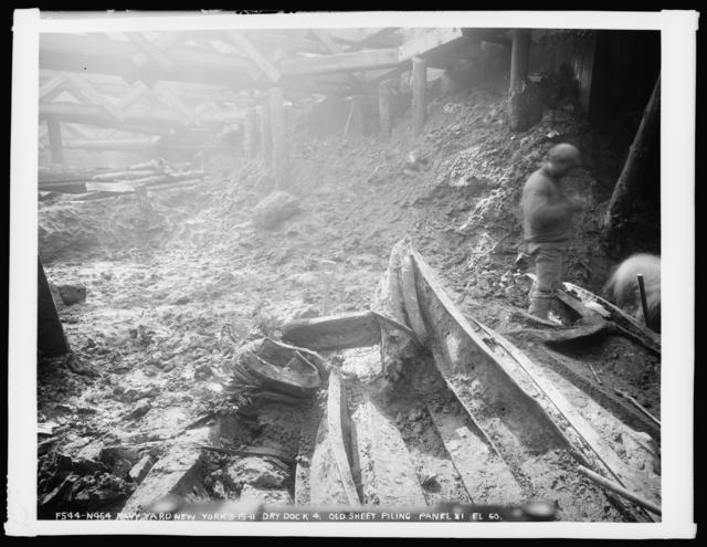 Dry Dock 4, Old Sheet Piling, Panel 31, Elevation 60