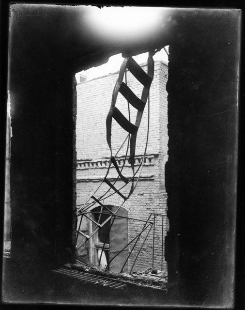 Photograph of a Broken Fire Escape after the Triangle Shirtwaist Factory Fire