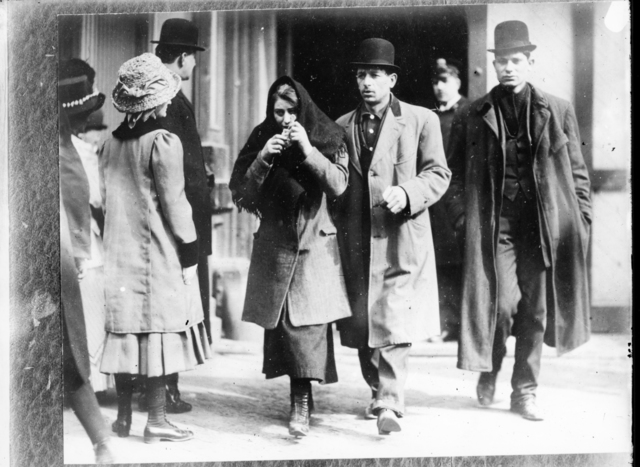 Photograph of People near the Triangle Shirtwaist Factory Fire
