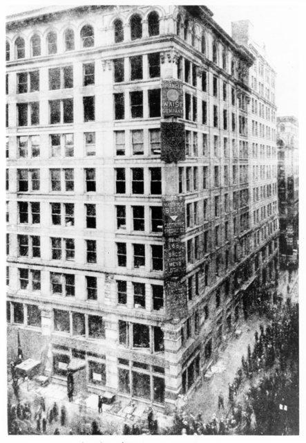Photograph of the Asch Building after the Triangle Shirtwaist Factory Fire