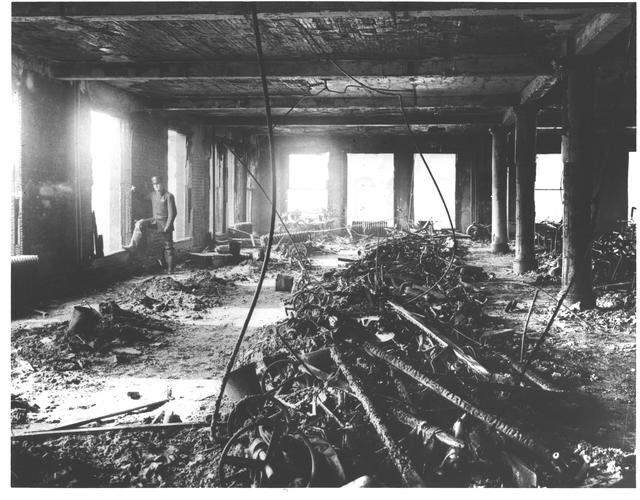 Photograph of the Building Interior after the Triangle Shirtwaist Factory Fire