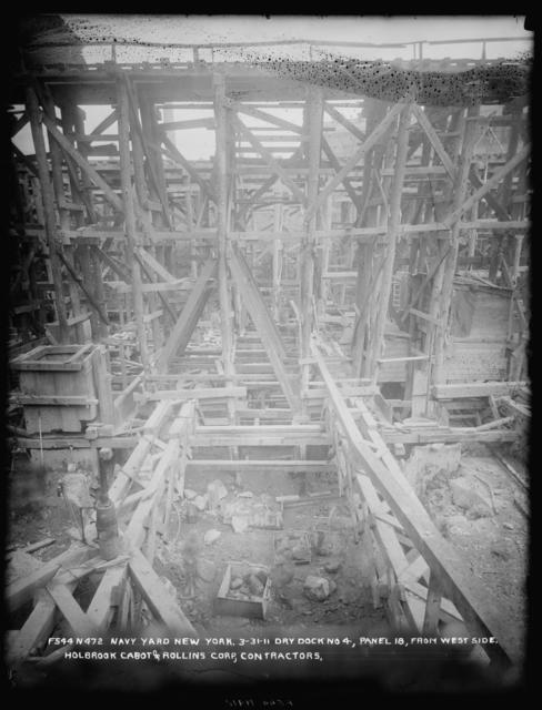 Dry Dock 4, Panel 18, from West Side, Holbrook Cabot and Rollins Corporation, Contractor