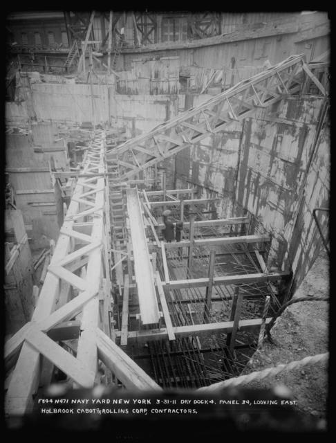 Dry Dock 4, Panel 34, Looking East, Holbrook Cabot and Rollins Corporation, Contractor