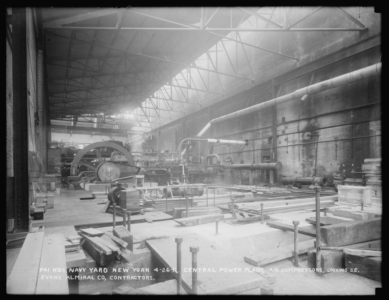 Central Power Plant, Air Compressors, Looking Southeast