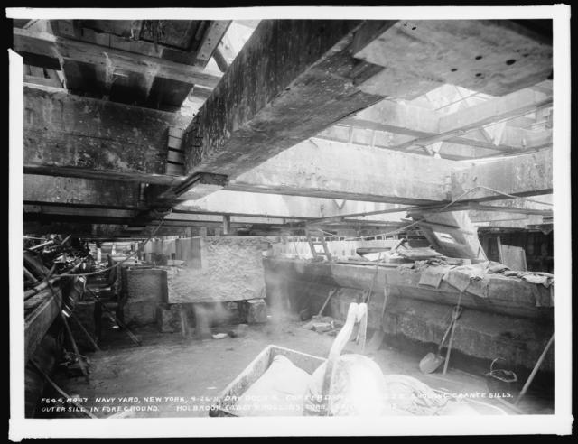 Dry Dock 4 Coffer Dam, Looking Southeast, Showing Granite Sills, Holbrook Cabot and Rollins Corporation, Contractor