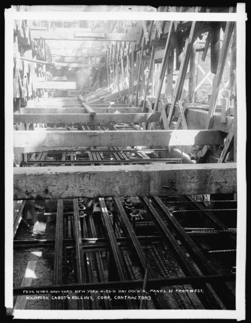 Dry Dock 4, Panel 32 From West, Holbrook Cabot and Rollins Corporation, Contractor