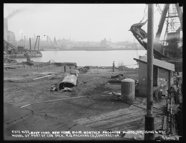 Monthly Progress Photo, Dredging and Removal of Part of Cob Dock, R. G. Packard Company, Contractor