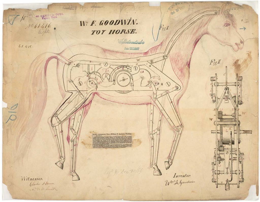 Drawing of Toy Horse
