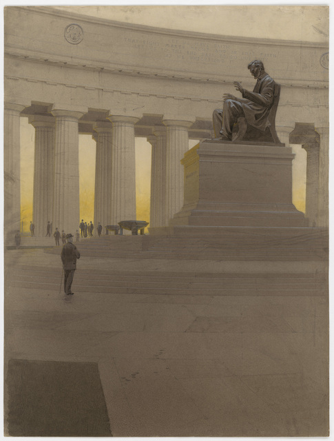 John Russell Pope's Competition Proposal for a Monument to Abraham Lincoln at the Soldier's Home Site, Interior View