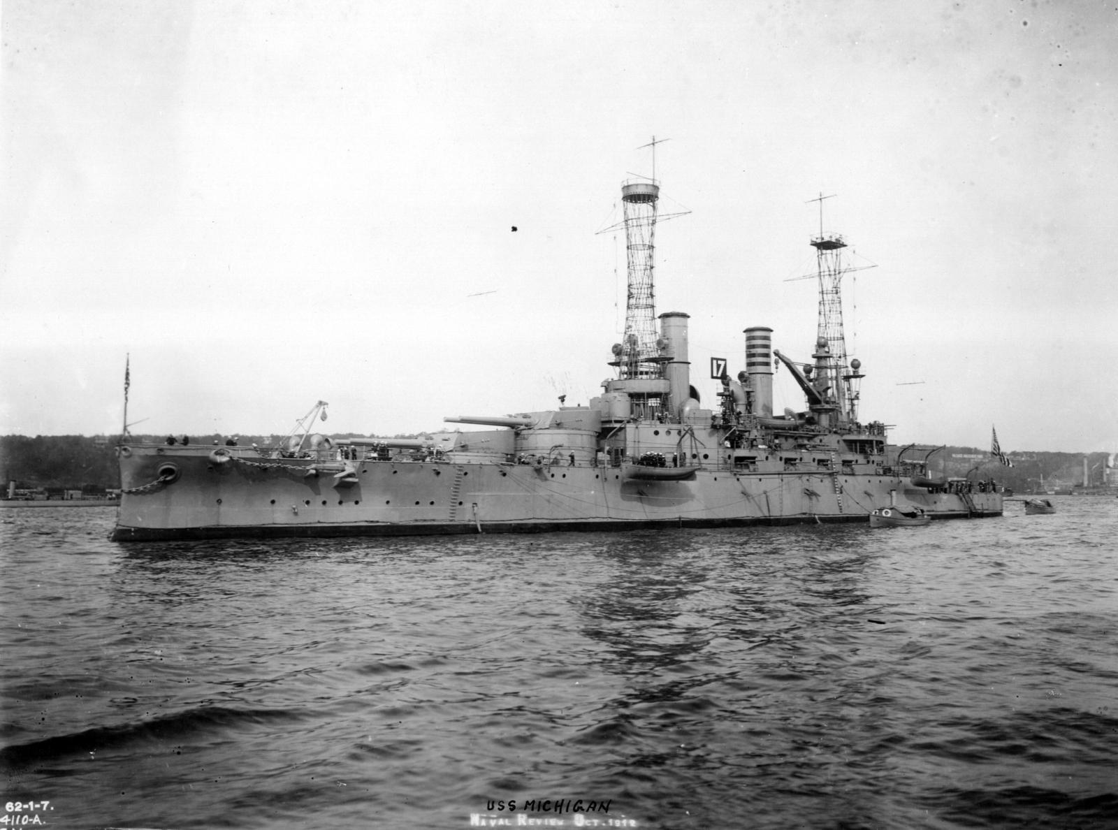 Photograph of the Battleship USS Michigan