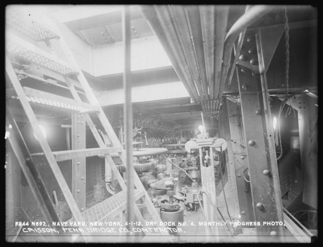 Dry Dock Number 4, Monthly Progress Photo, Caisson, Penn Bridge Company, Contractor