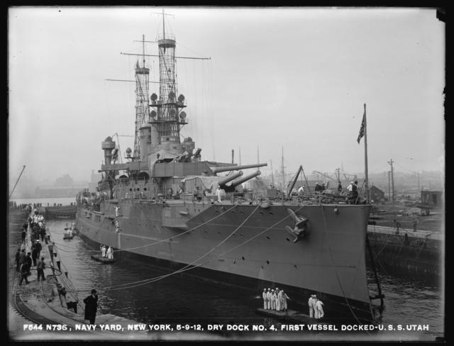 Dry Dock 4, First Vessel Docked, USS Utah