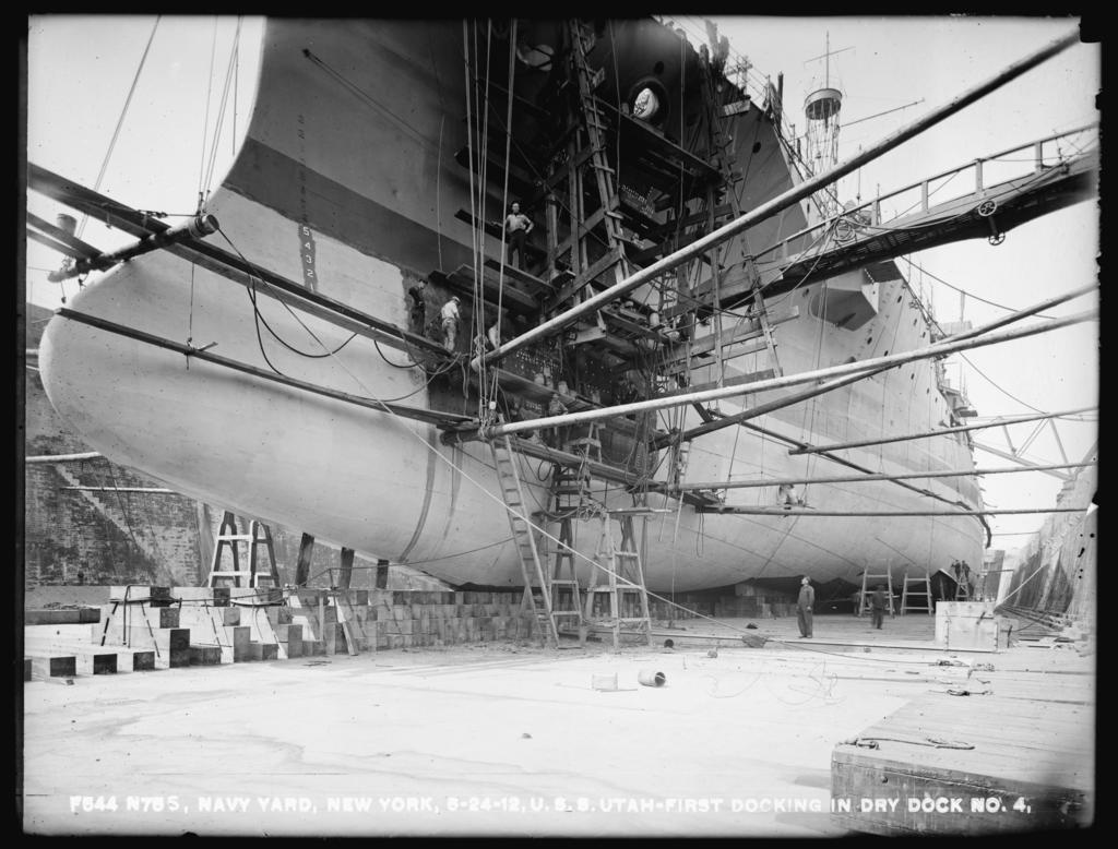 USS Utah - First Docking in Dry Dock Number 4