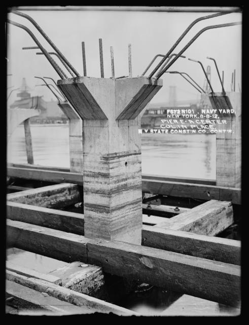 Pier E, a Center Column in Place, New York State Construction Company Contractor