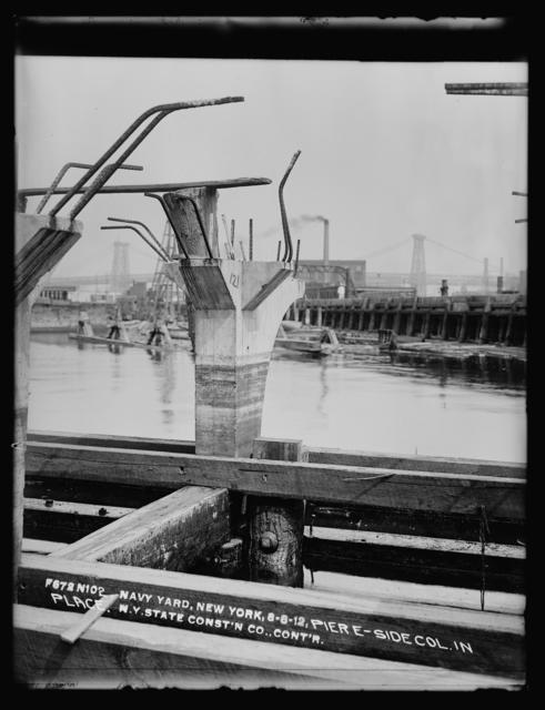 Pier E, Side Column in Place, New York State Construction Company Contractor