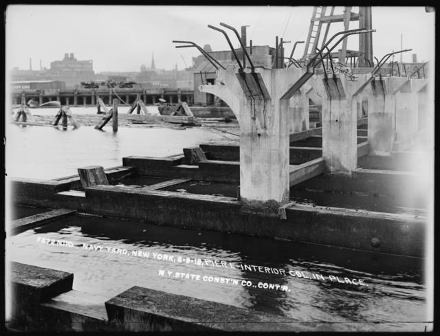 Pier E - Interior Columns in Place, New York State Construction Company, Contractor