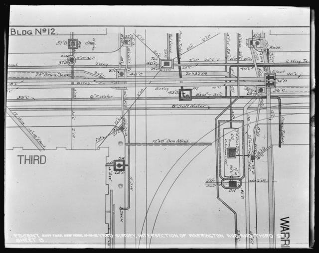 Yard Survey, Intersection of Warrington Avenue and Third Street, Sheet 13