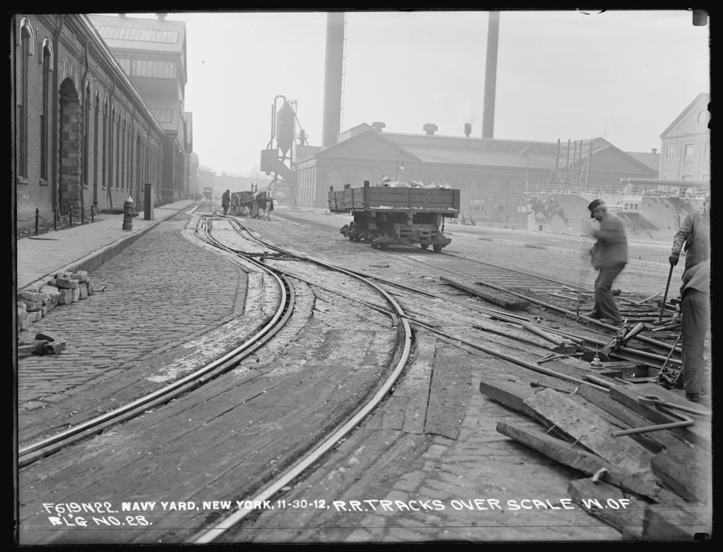 Railroad Tracks Over Scale, West of Building Number 28