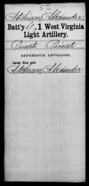 Atchison, Alexander - Age [Blank], Year: [Blank] - First Light Artillery - West Virginia