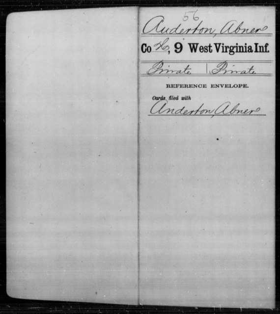 Auderton, Abner - Age [Blank], Year: [Blank] - Ninth Infantry - West Virginia