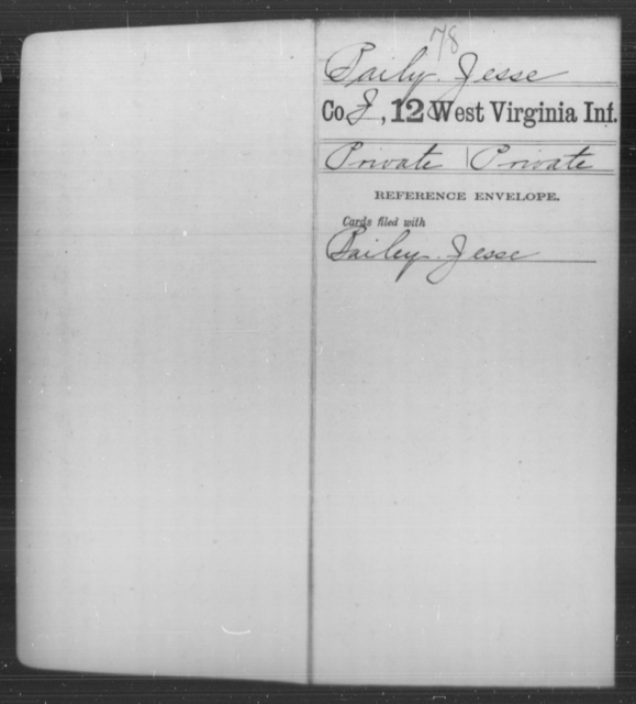 Baily, Jesse - Age [Blank], Year: [Blank] - Twelfth Infantry - West Virginia