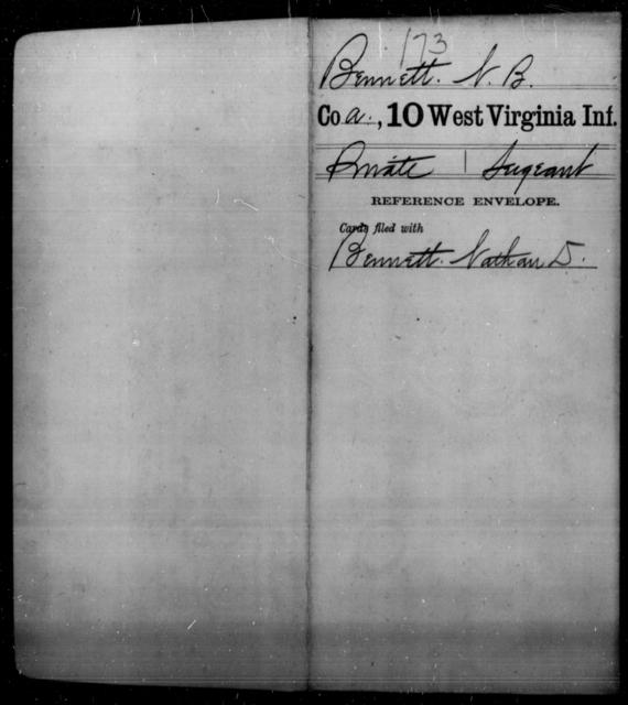 Bennett, N B - Age [Blank], Year: [Blank] - Tenth Infantry - West Virginia