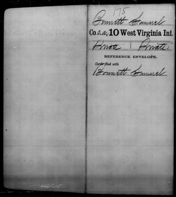 Bennett, Samuel - Age [Blank], Year: [Blank] - Tenth Infantry - West Virginia