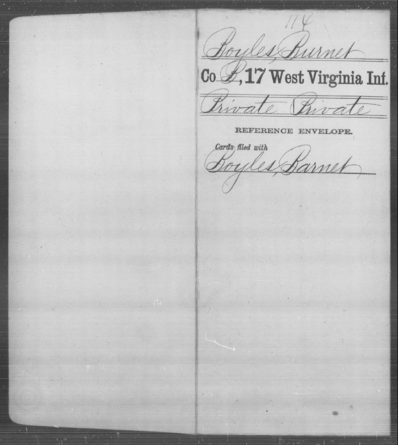 Boyles, Burnet - Age [Blank], Year: [Blank] - Seventeenth Infantry - West Virginia