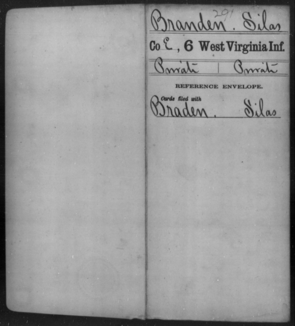Branden, Silas - Age [Blank], Year: [Blank] - Sixth Infantry - West Virginia