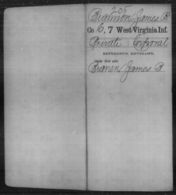 Brannon, James B - Age [Blank], Year: [Blank] - Seventh Infantry - West Virginia
