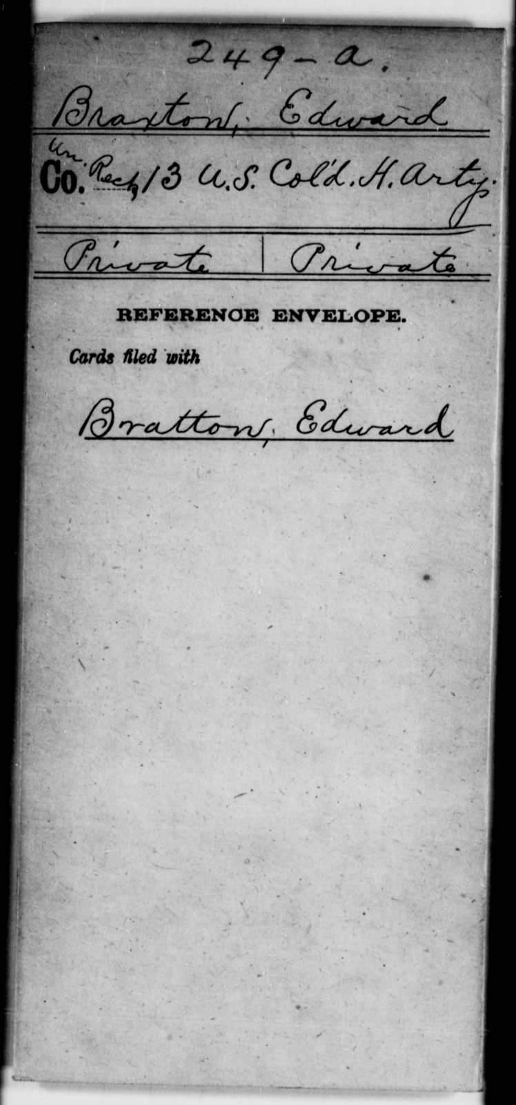 Braxton, Edward - Age [Blank], Year: [Blank] - 13th US Colored Heavy Artillery - United States Colored Troops: Artillery Organizations