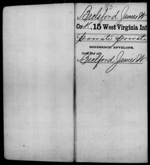 Brelsford, James W - Age [Blank], Year: [Blank] - Fifteenth Infantry - West Virginia