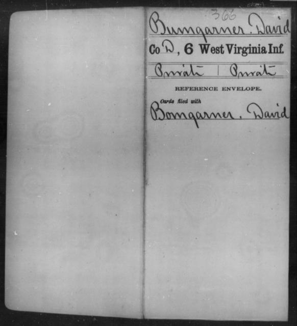 Bumgarner, David - Age [Blank], Year: [Blank] - Sixth Infantry - West Virginia
