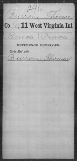 Burrous, Thomas - Age [Blank], Year: [Blank] - Eleventh Infantry - West Virginia