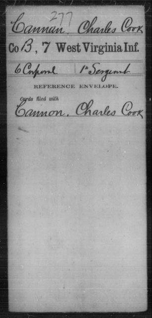Cannan, Charles Cook - Age [Blank], Year: [Blank] - Seventh Infantry - West Virginia