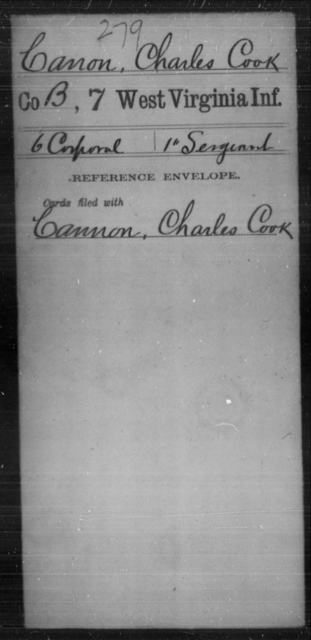 Canon, Charles Cook - Age [Blank], Year: [Blank] - Seventh Infantry - West Virginia