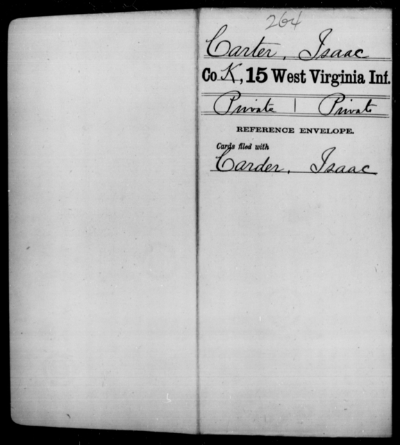 Carter, Isaac - Age [Blank], Year: [Blank] - Fifteenth Infantry - West Virginia