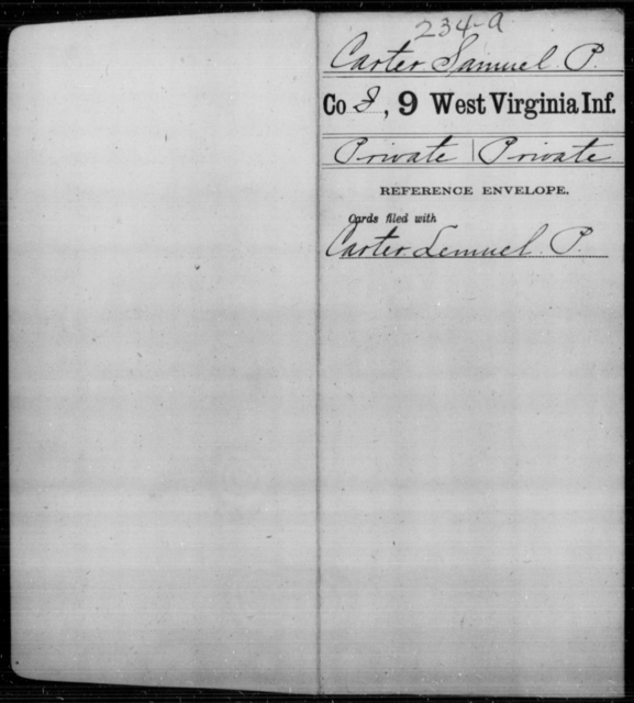 Carter, Samuel P - Age [Blank], Year: [Blank] - Ninth Infantry - West Virginia