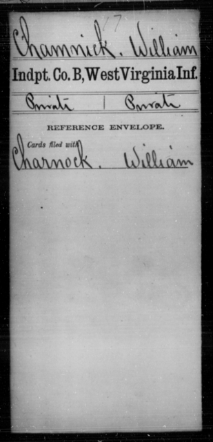 Chamnick, William - Age [Blank], Year: [Blank] - Independent Company A, Infantry AND Independent Company B, Infantry AND Unassigned Men, M-S - West Virginia