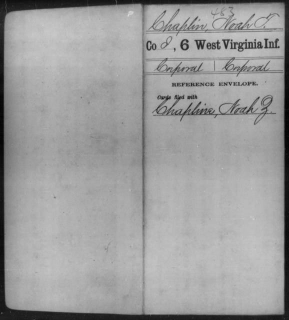 Chaplin, Noah T - Age [Blank], Year: [Blank] - Sixth Infantry - West Virginia