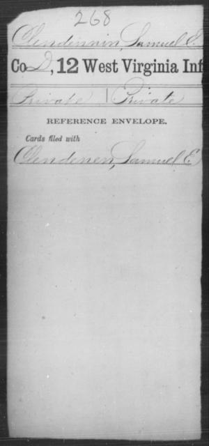 Clendennin, Samuel E - Age [Blank], Year: [Blank] - Twelfth Infantry - West Virginia
