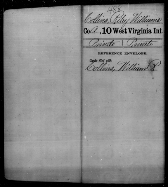 Collins, Riley Williams - Age [Blank], Year: [Blank] - Tenth Infantry - West Virginia