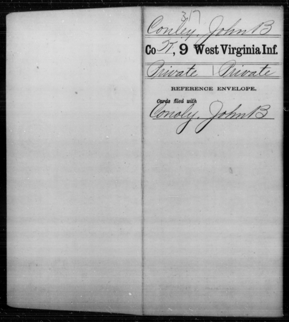 Conley, John B - Age [Blank], Year: [Blank] - Ninth Infantry - West Virginia