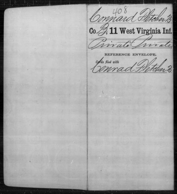 Connard, Fletcher B - Age [Blank], Year: [Blank] - Eleventh Infantry - West Virginia