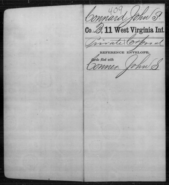 Connard, John S - Age [Blank], Year: [Blank] - Eleventh Infantry - West Virginia